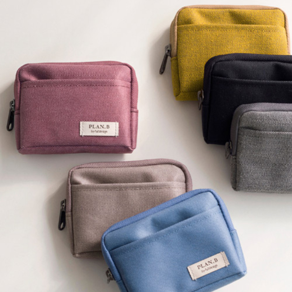 Byfulldesign Oxford multi small pocket zipper pouch ver2