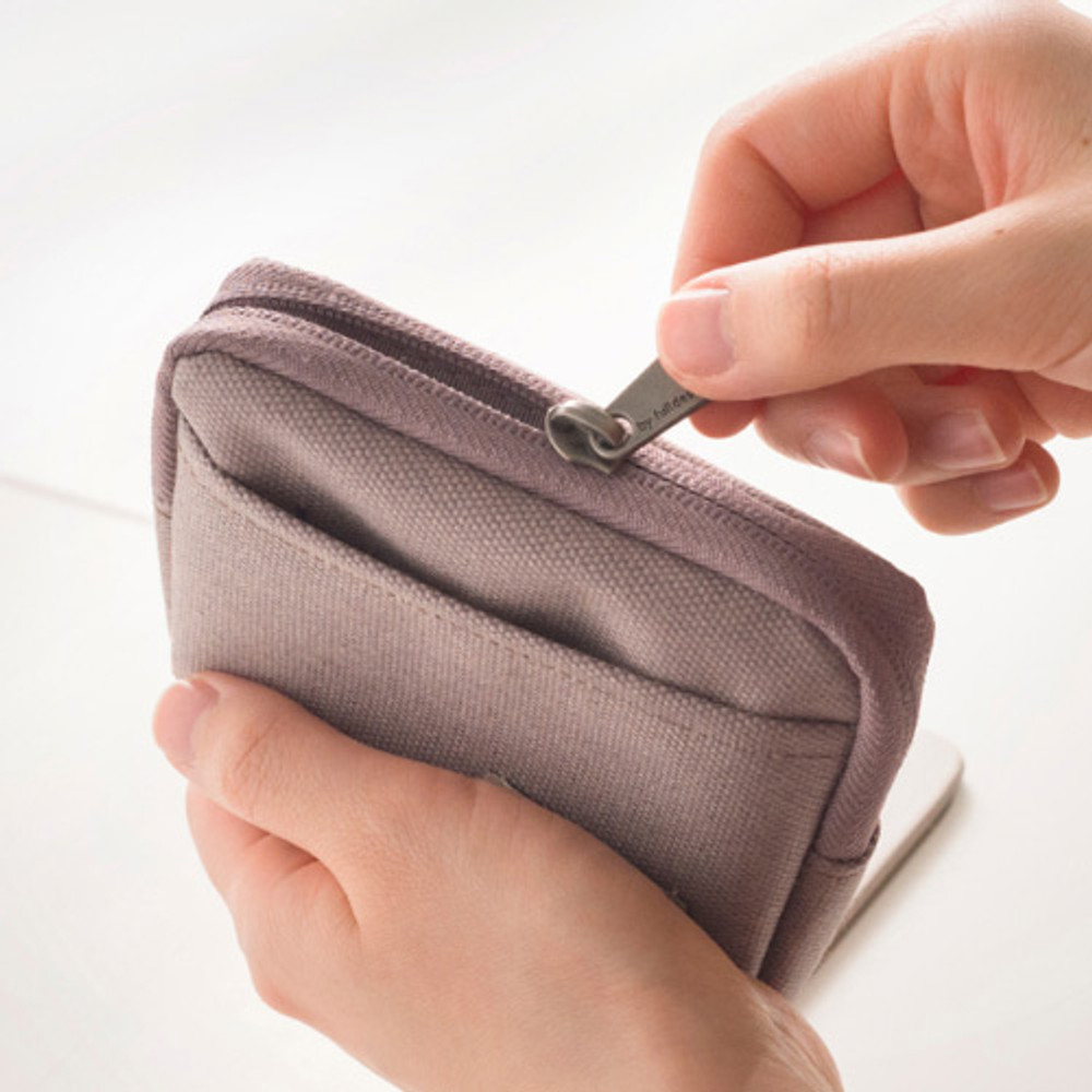 Zipper pouch - Byfulldesign Oxford multi small pocket zipper pouch ver2