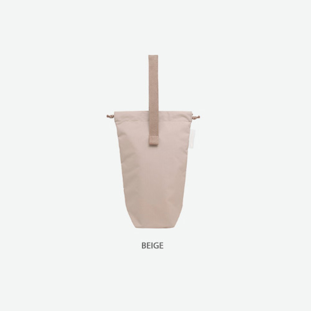 Beige - Byfulldesign Travelus air bag two way long pouch bag
