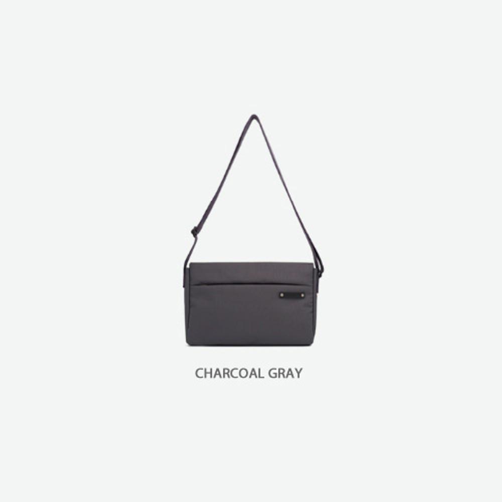 Charcoal gray - Byfulldesign Travelus minimal crossbody bag for walking
