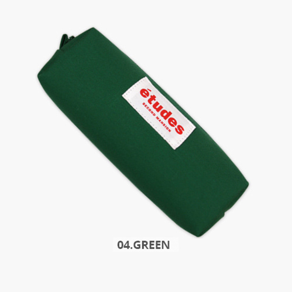 Green - Second Mansion Etudes zipper fabric pencil case pouch