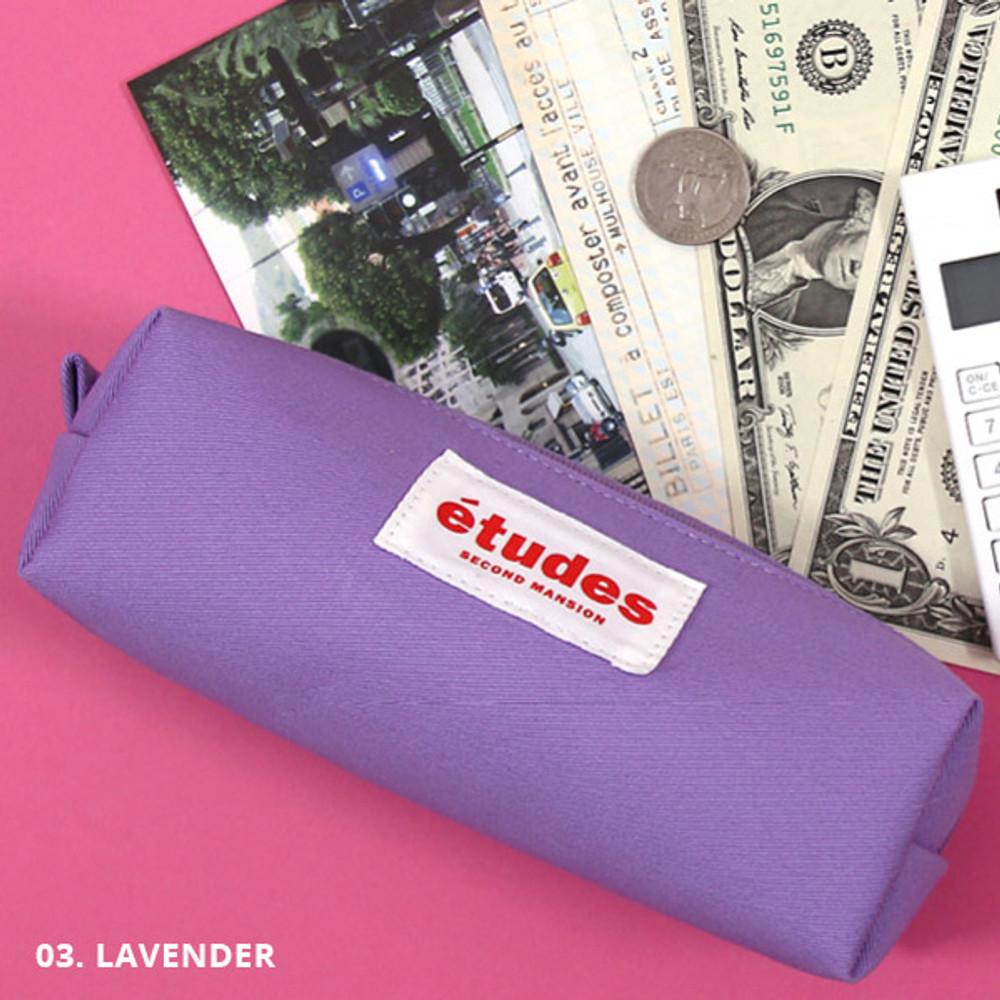 Lavender - Second Mansion Etudes zipper fabric pencil case pouch