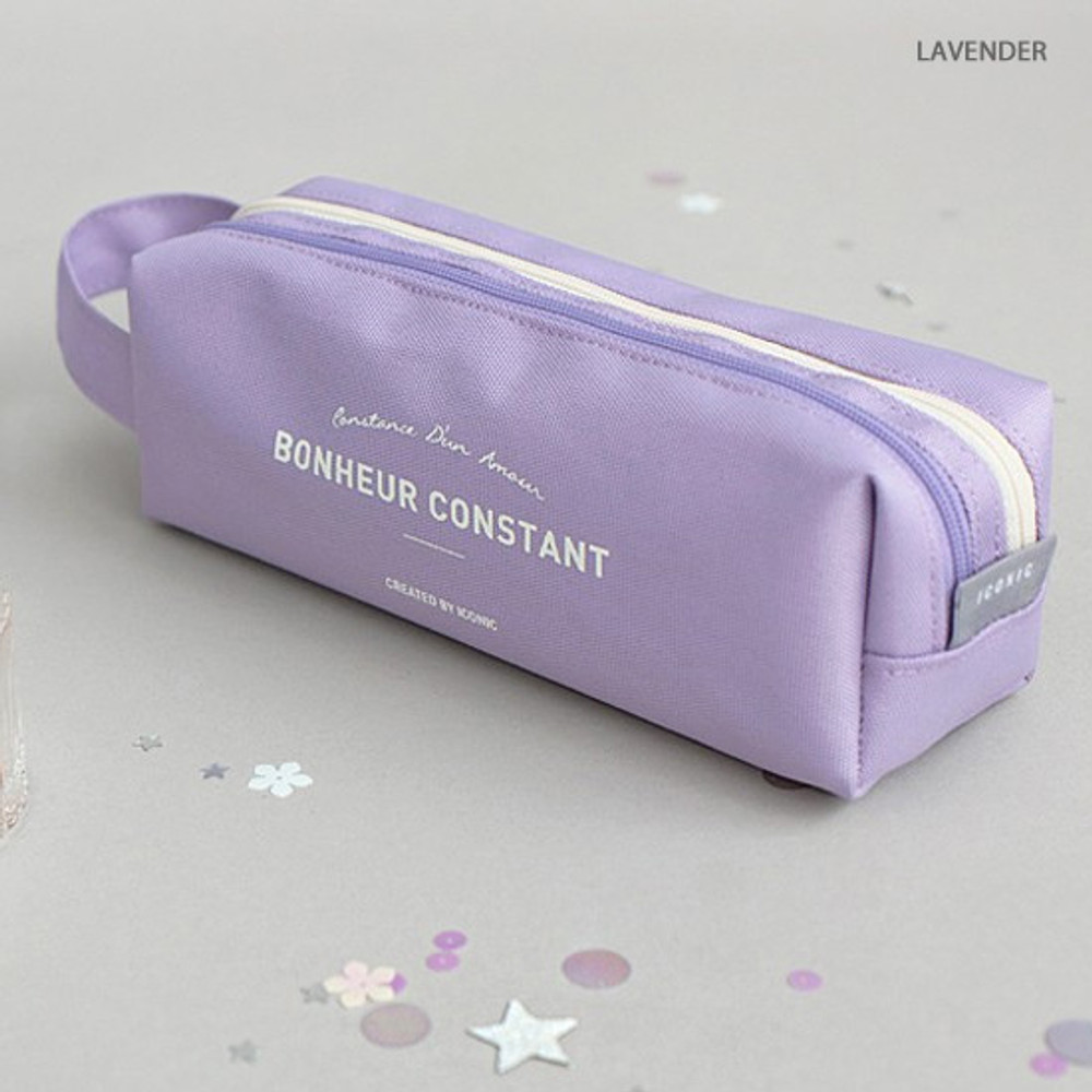 Lavender - ICONIC Bonheur constant double zipper pencil case pen pouch