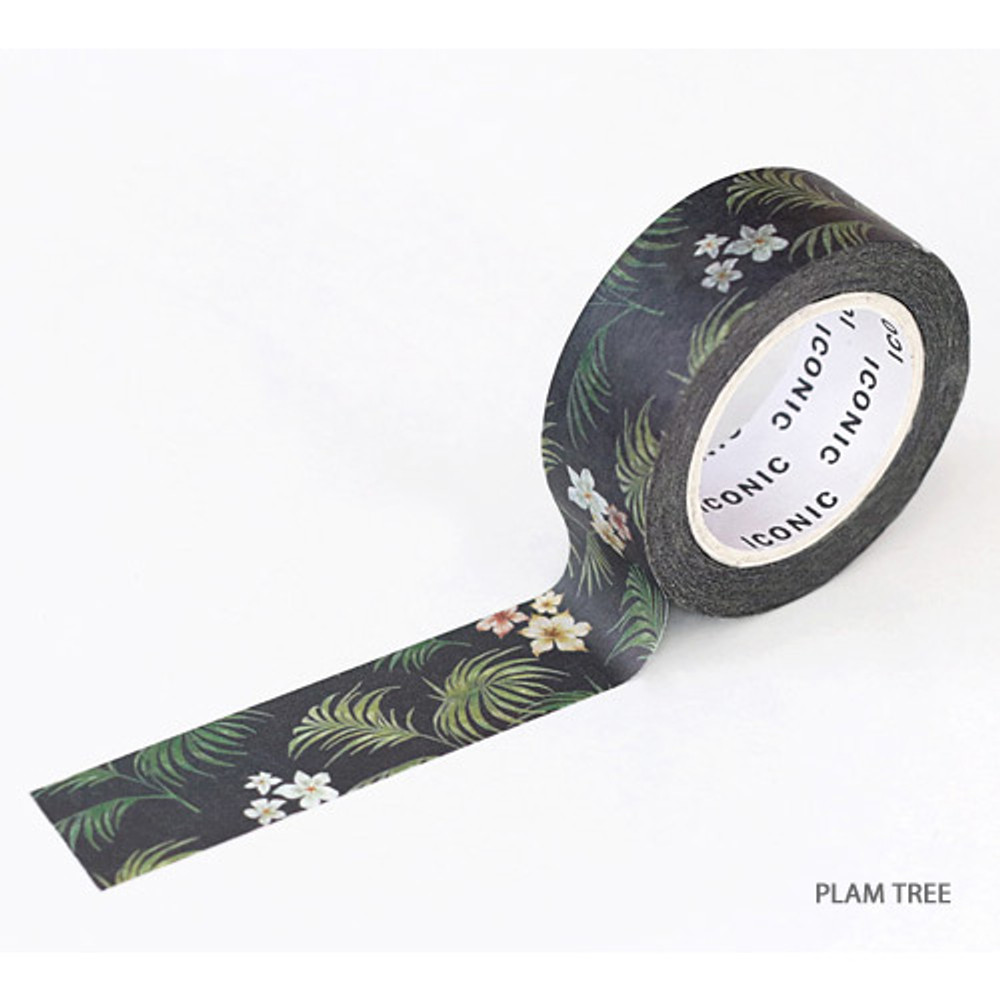 Palm tree - ICONIC Flower pattern paper deco masking tape