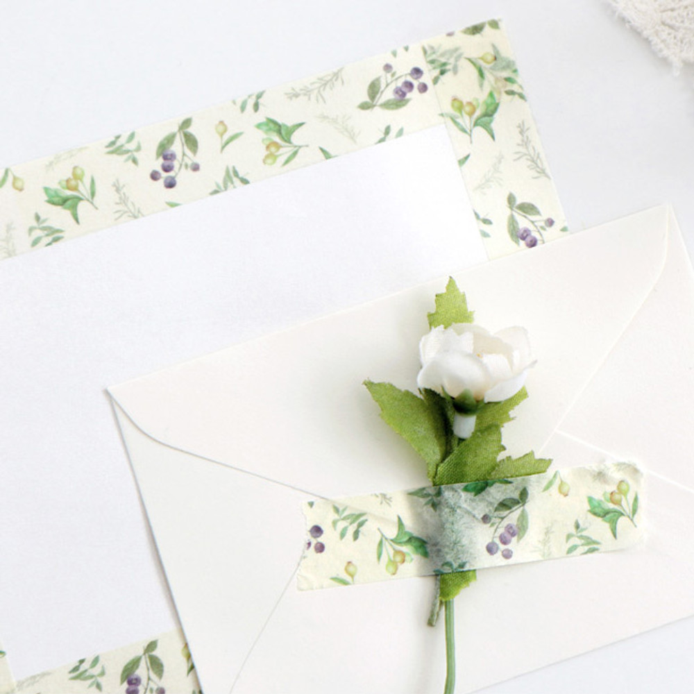 Example of use - ICONIC Flower pattern paper deco masking tape