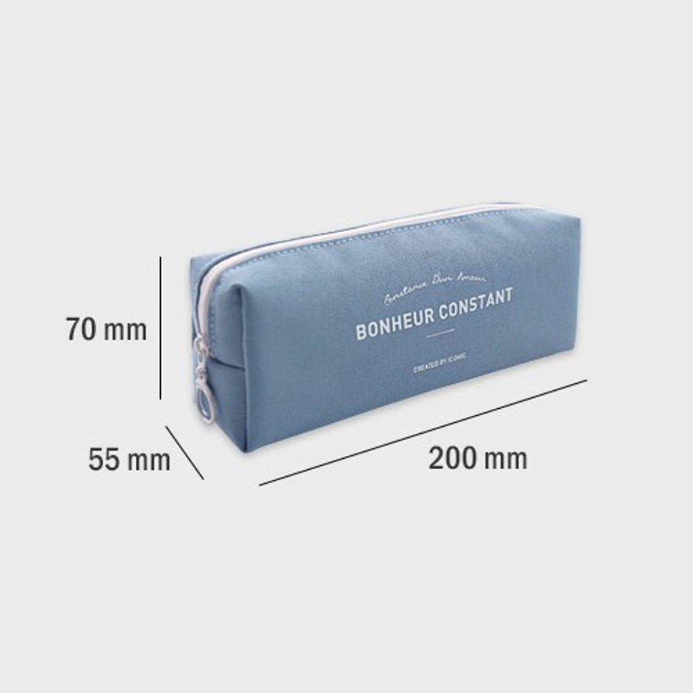 Size - ICONIC Bonheur constant zipper pencil case pen pouch