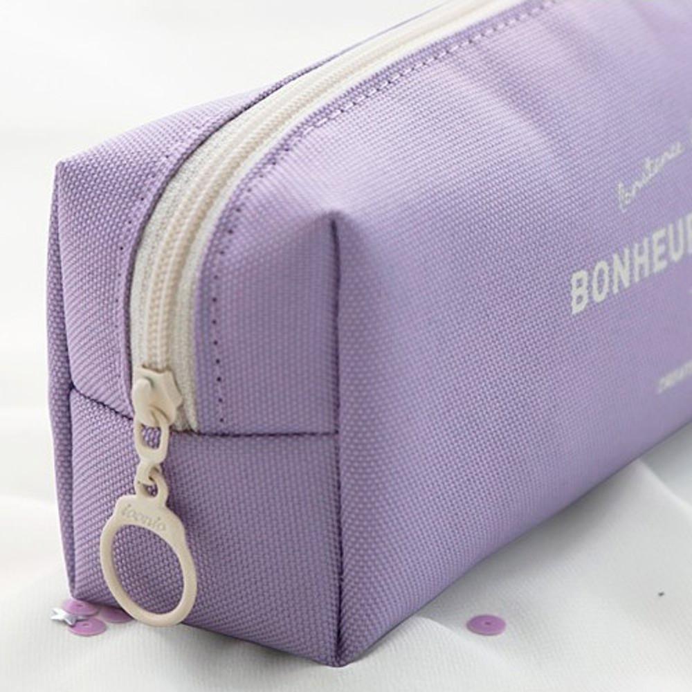 Zipper closure - ICONIC Bonheur constant zipper pencil case pen pouch