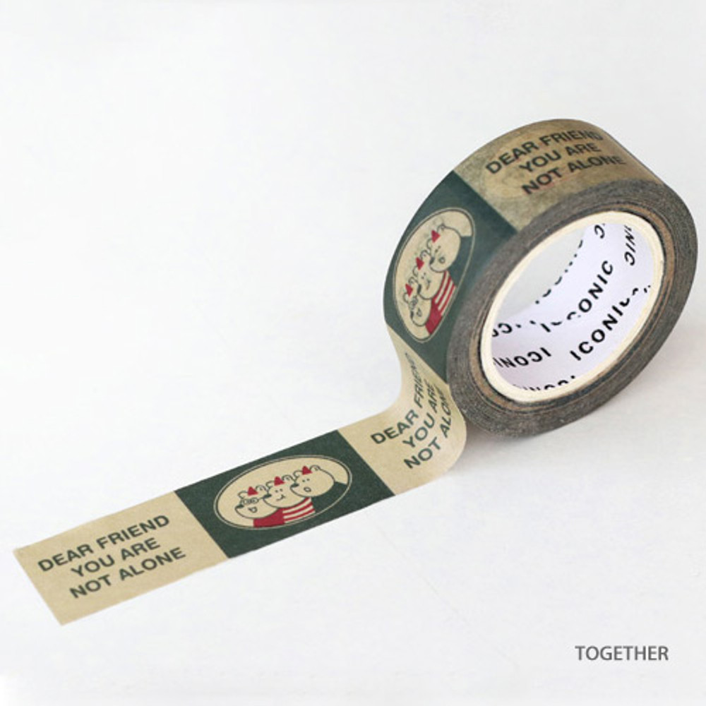 Together - ICONIC Vintage pattern paper deco masking tape