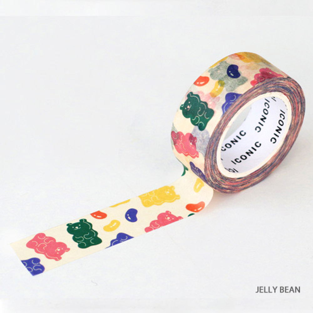 Jelly bean - ICONIC Vintage pattern paper deco masking tape