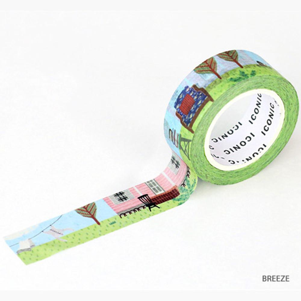 Breeze -ICONIC Season pattern paper deco masking tape