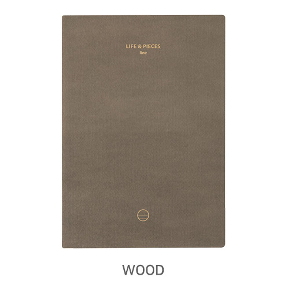 Wood - Livework Life and pieces large lined notebook