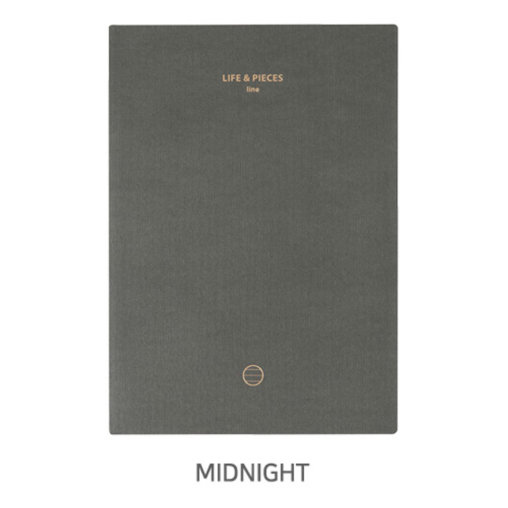 Midnight - Livework Life and pieces large lined notebook