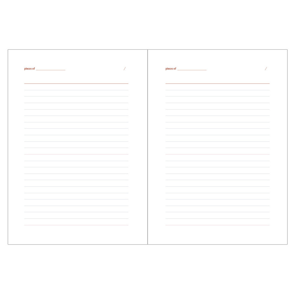 Ruled page - Livework Life and pieces large lined notebook
