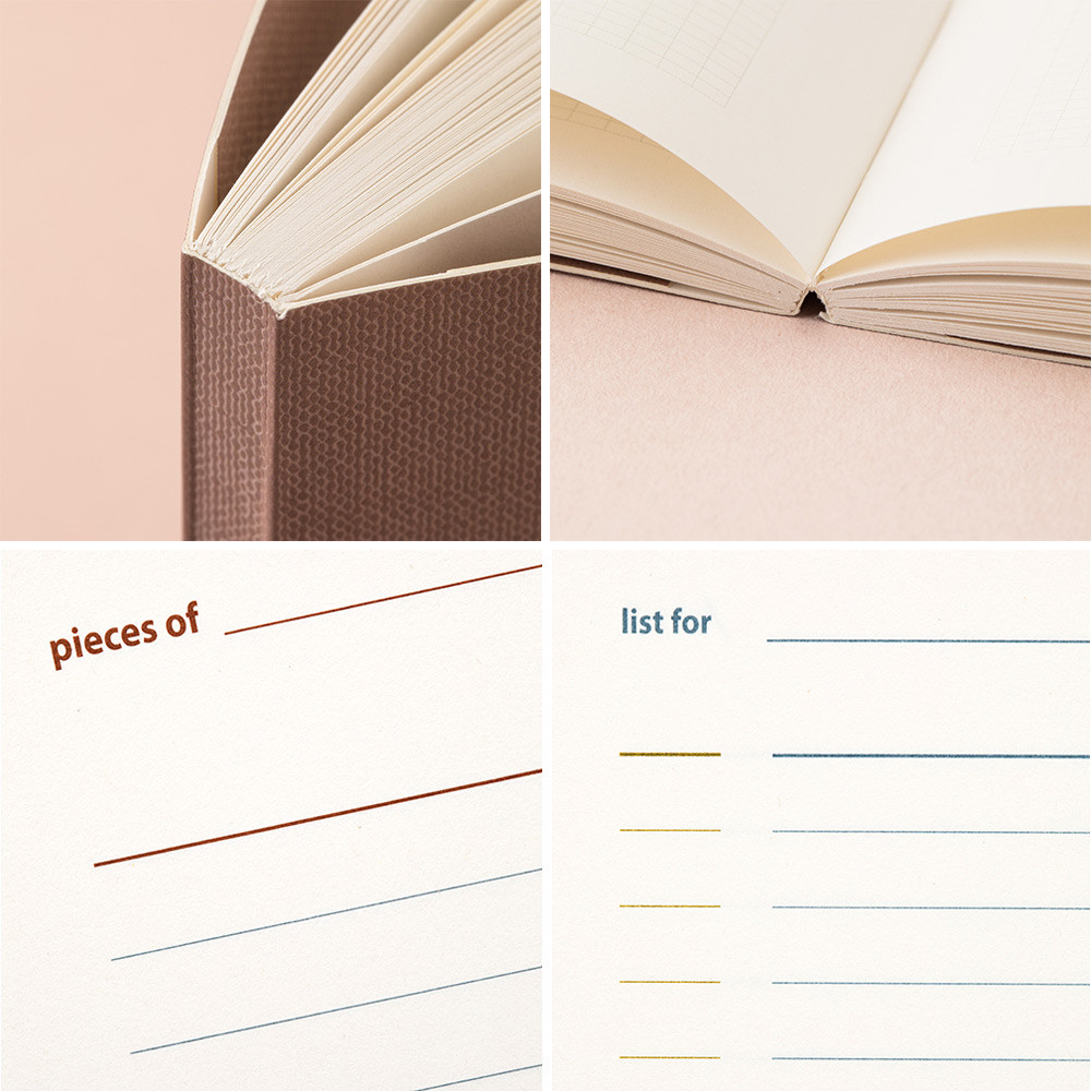 Detail of Livework Life and pieces large lined notebook