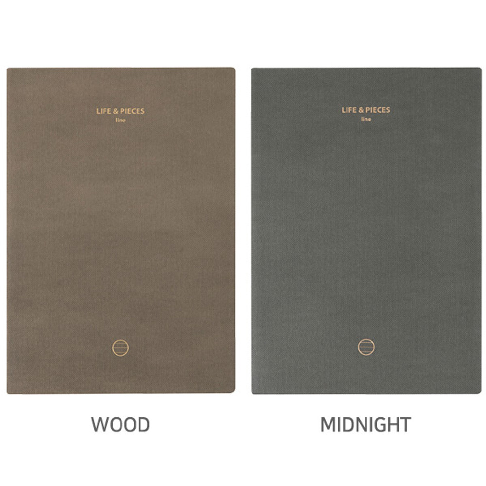 Life and pieces large lined notebook