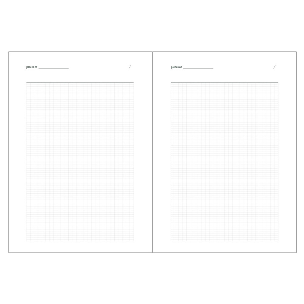 Grid pages - Livework Life and pieces large grid notebook