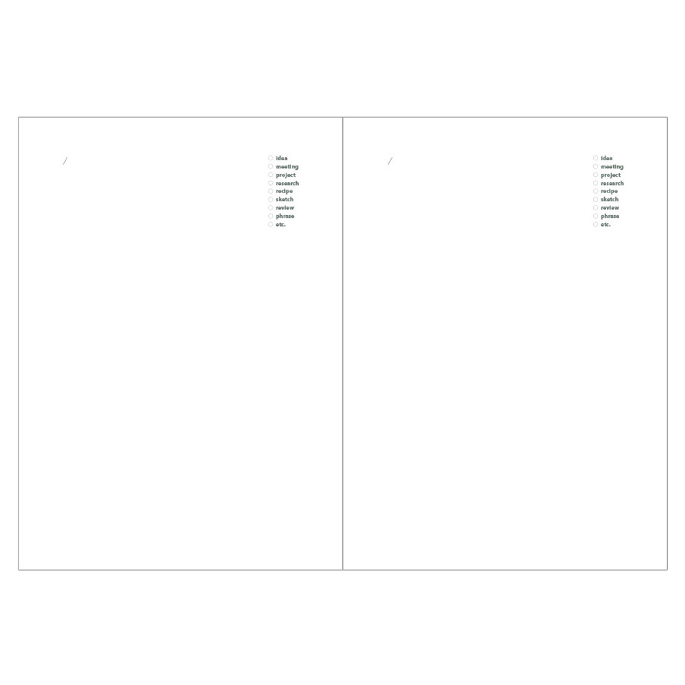 Idea pages - Livework Life and pieces large idea blank notebook