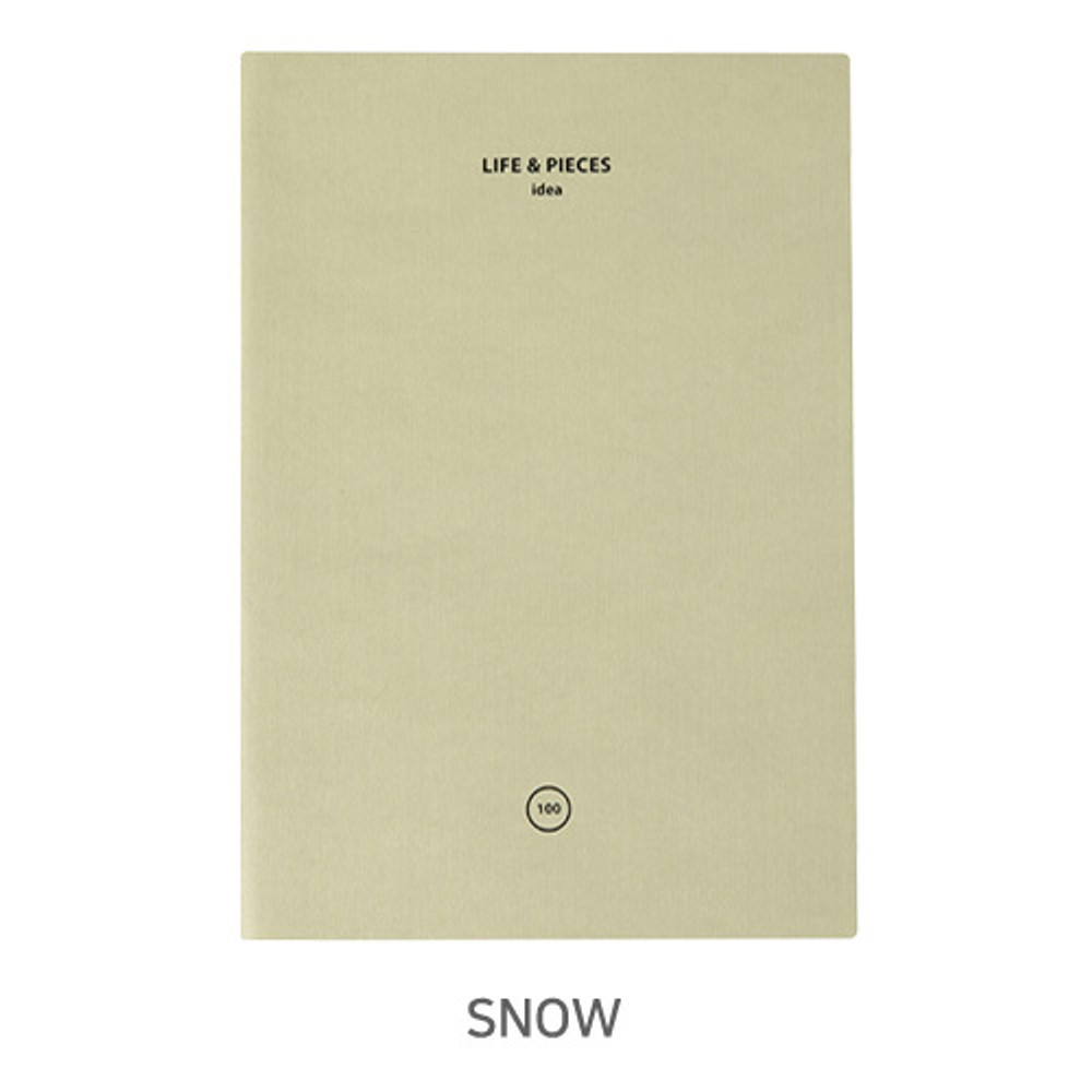 Snow - Livework Life and pieces large idea blank notebook