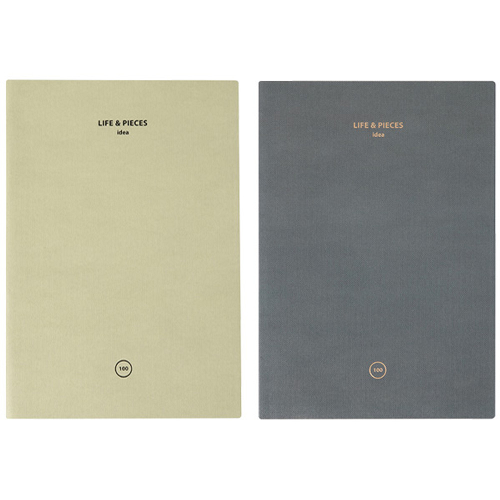Livework Life and pieces large idea blank notebook