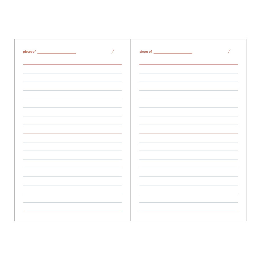 Ruled pages - Livework Life and pieces small lined notebook