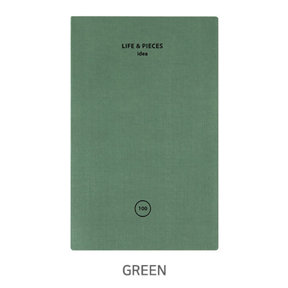 Green - Livework Life and pieces small idea blank notebook