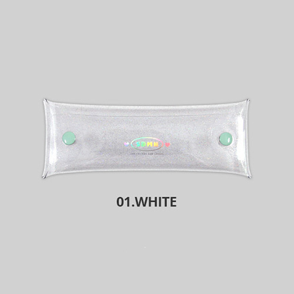 White - Second Mansion Moonlight twinkle folding pencil case pouch