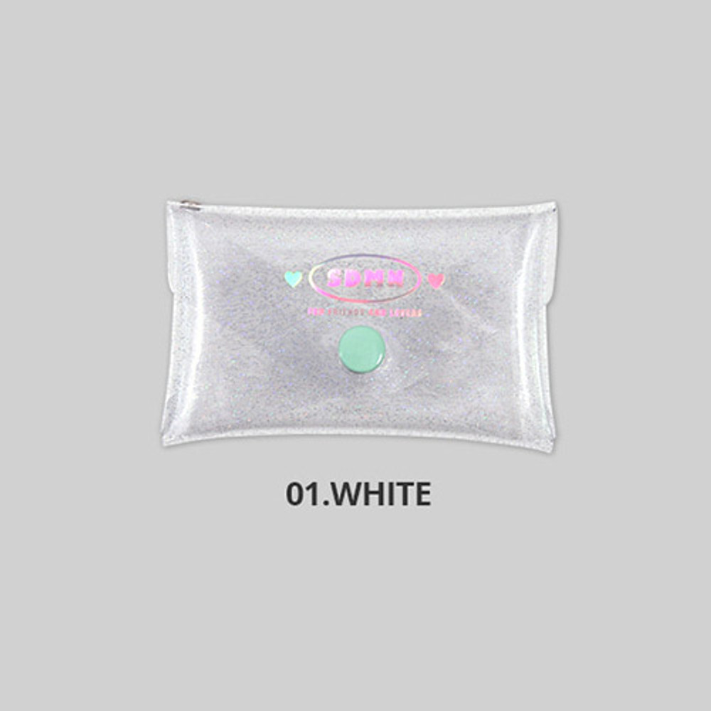White - Second Mansion Moonlight twinkle folding card case wallet