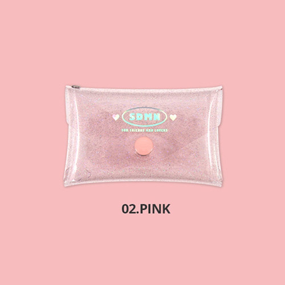 Pink - Second Mansion Moonlight twinkle folding card case wallet
