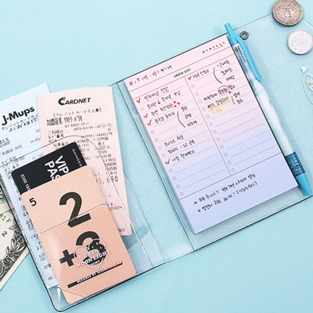 Example of use - Second Mansion Moonlight twinkle notepad notebook organizer