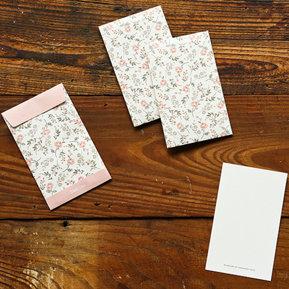 Example of use - Dailylike Poppy small card and envelope set
