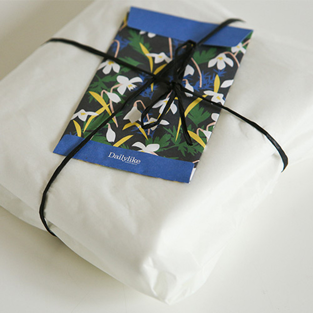 Example of use - Dailylike Snowdrop small card and envelope set