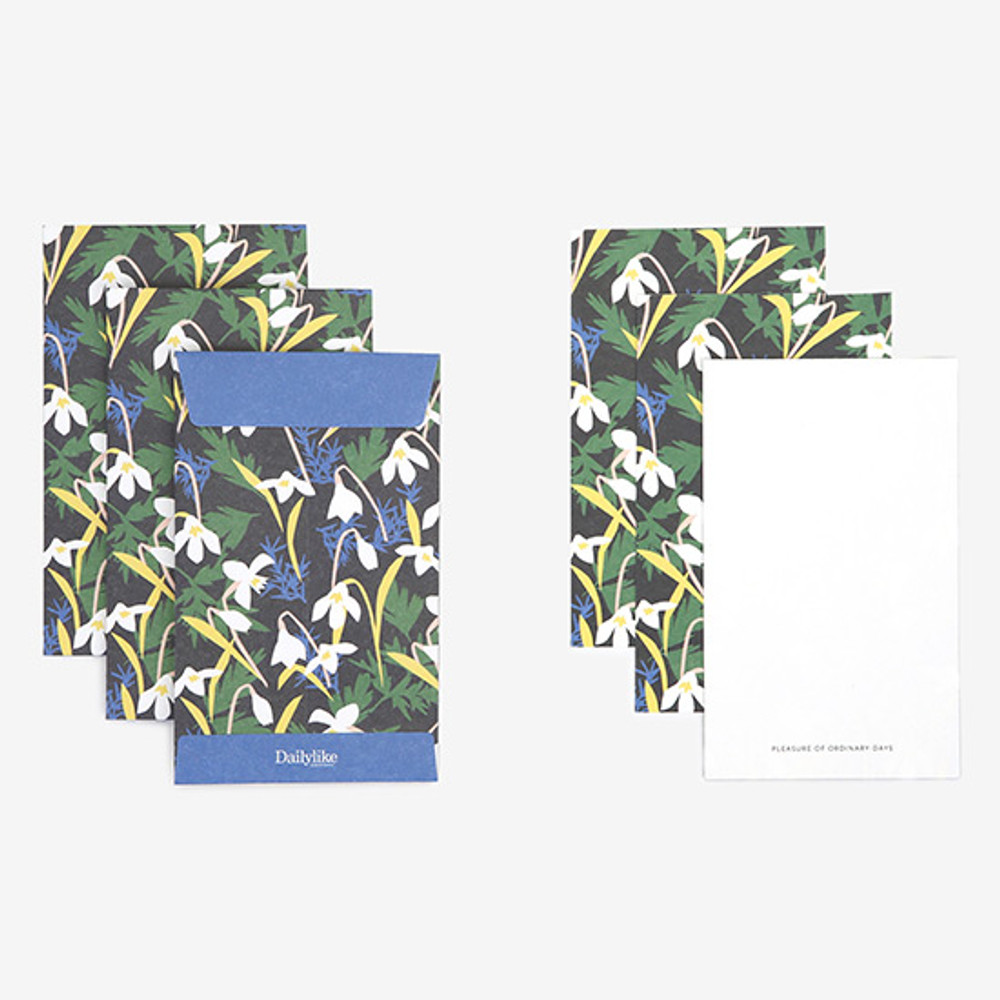 Composition - Dailylike Snowdrop small card and envelope set