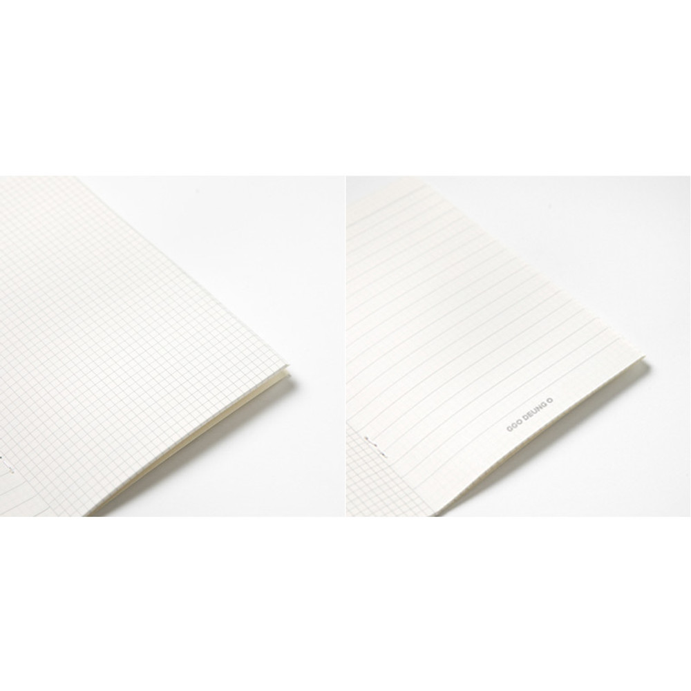 Note pages - DESIGN IVY Ggo deung o flower small grid and lined notebook