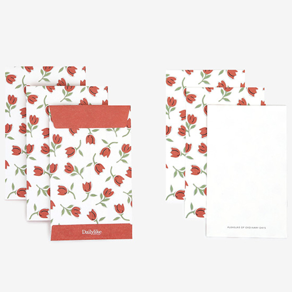 Composition - Dailylike Tiny tulip small card and envelope set