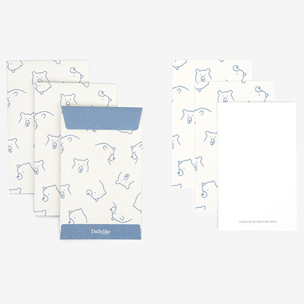 Composition - Dailylike Bear small card and envelope set