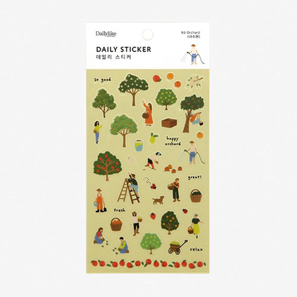 Dailylike Daily transparent deco sticker - Orchard