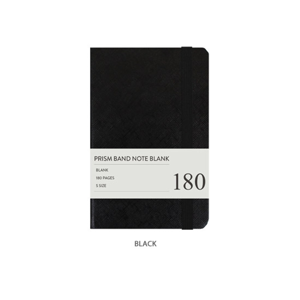 Navy - Indigo Prism 180 pages small blank notebook with elastic band
