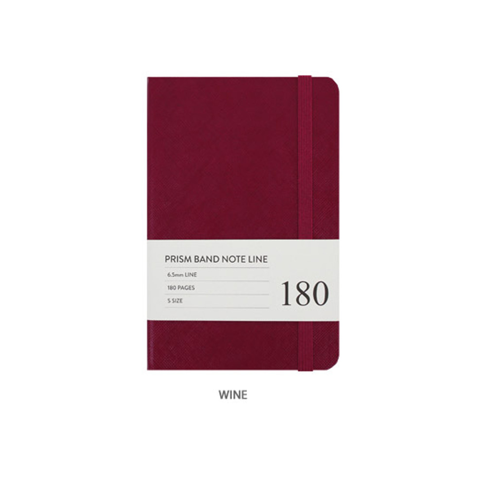 Wine - Indigo Prism 180 pages small lined notebook with elastic band