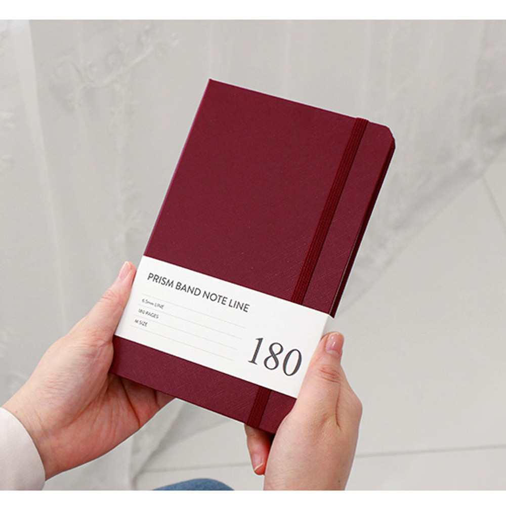Prism 180 pages medium lined notebook with elastic band