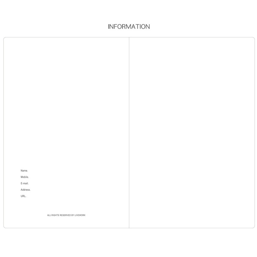 Information - Livework Agenda large grid notebook ver4