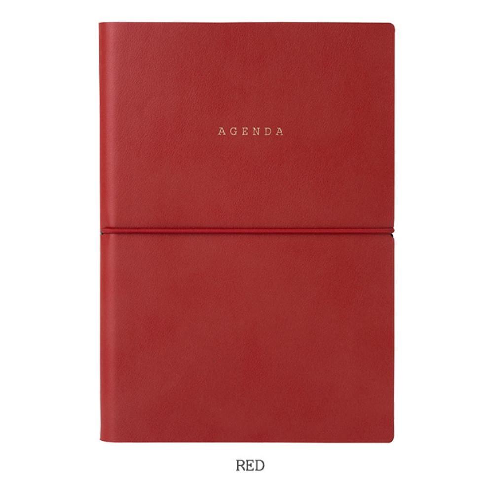 Red - Livework Agenda large grid notebook ver4