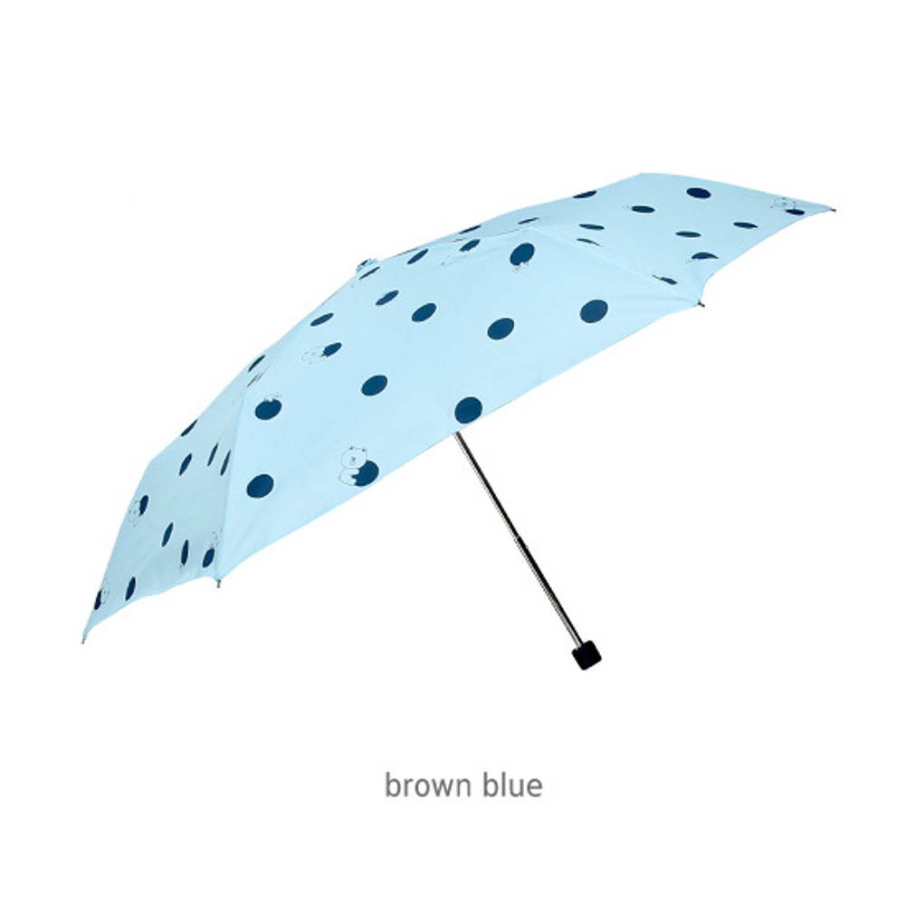 Brown blue - Monopoly Line friends hanging ultralight 3 fold umbrella