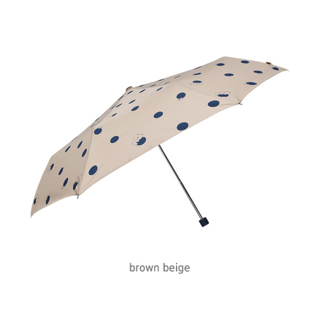 Brown beige - Monopoly Line friends hanging ultralight 3 fold umbrella
