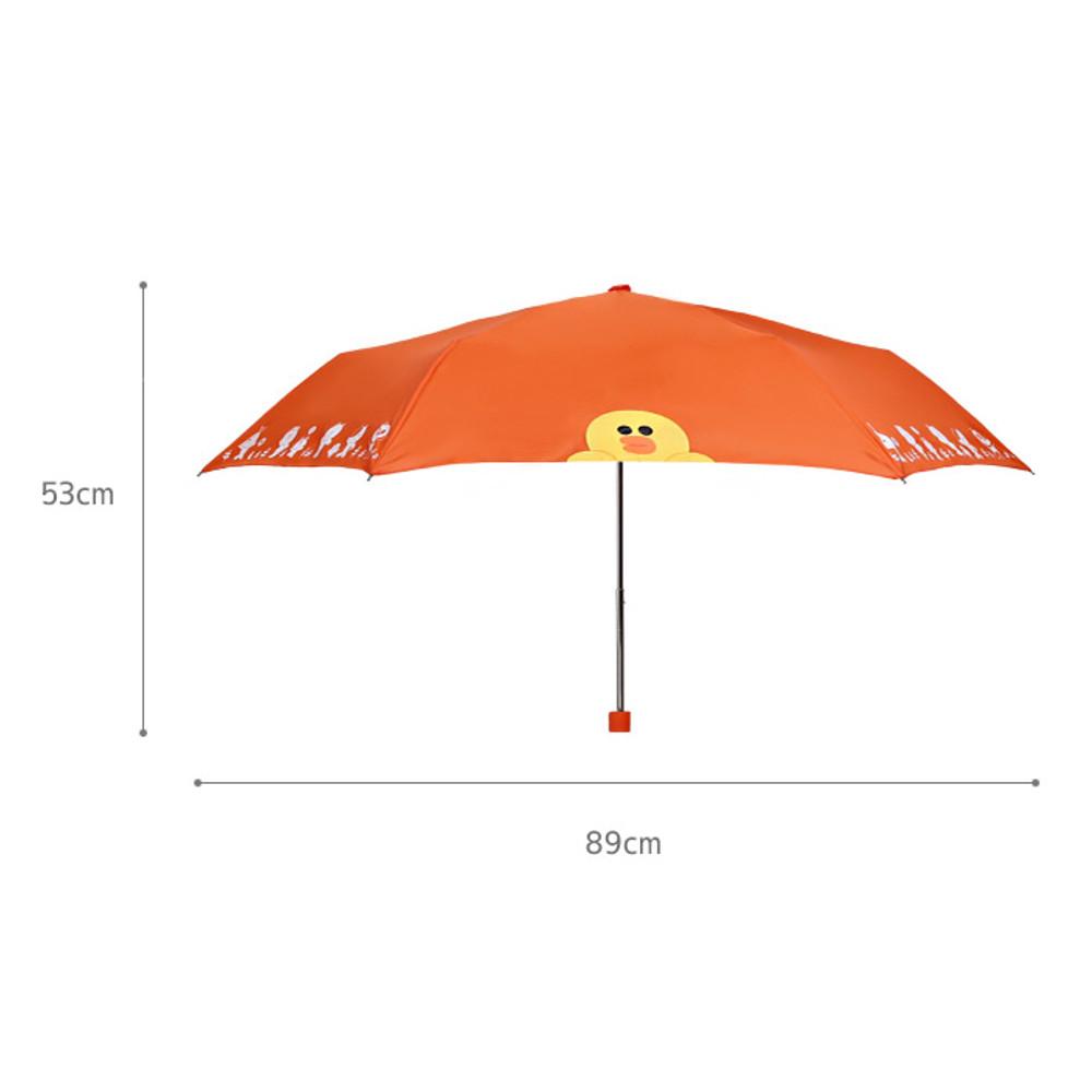 Size - Monopoly Line friends ultralight 3 layer umbrella