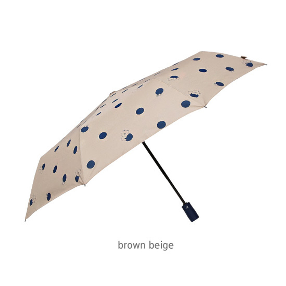 Brown beige - Monopoly Line friends hanging automatic 3 fold umbrella