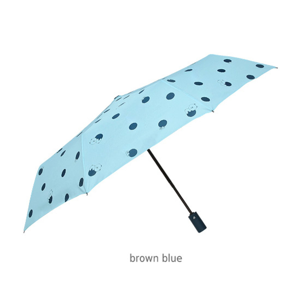 Brown blue - Monopoly Line friends hanging automatic 3 fold umbrella