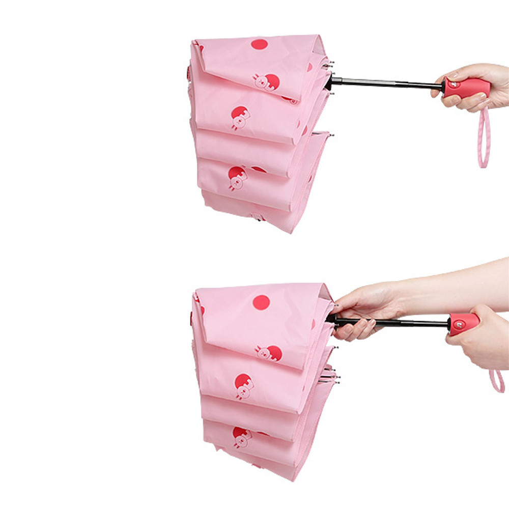 2 way closure- Monopoly Line friends hanging automatic 3 fold umbrella
