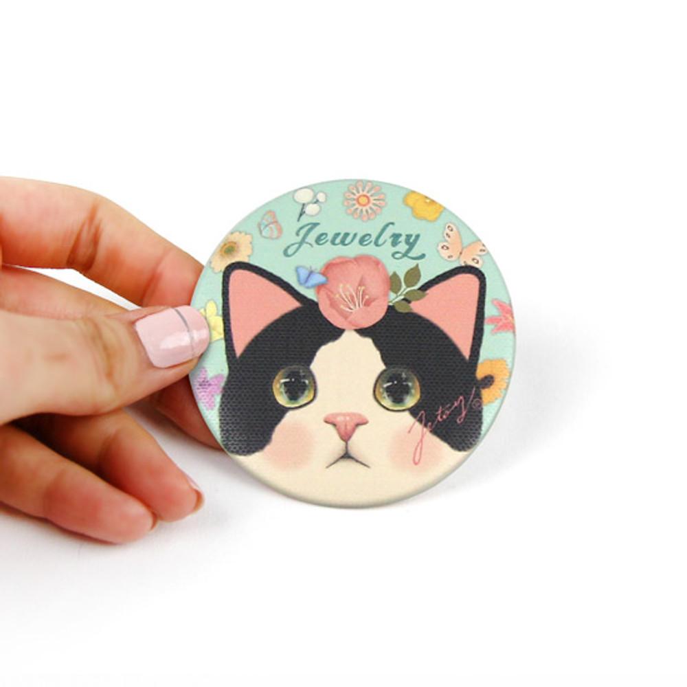Small size - Jetoy Choo Choo cat petit round hand mirror