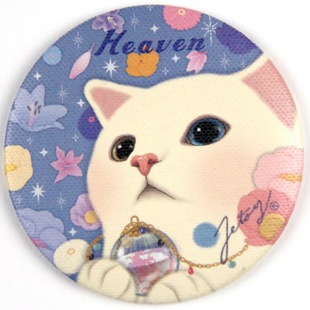 Heaven - Jetoy Choo Choo cat petit round hand mirror