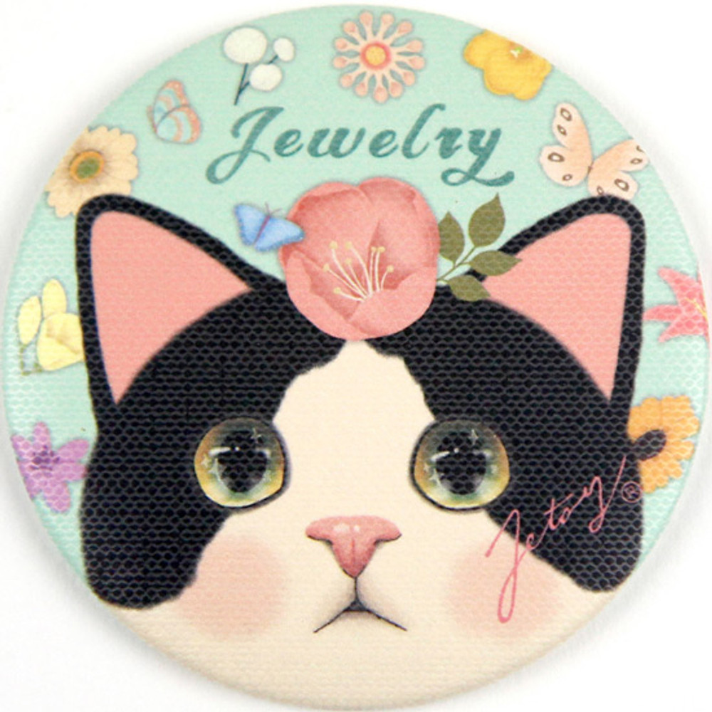 Jewelry - Jetoy Choo Choo cat petit round hand mirror